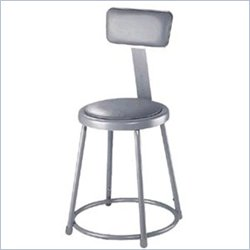 adjustable stool with backrest