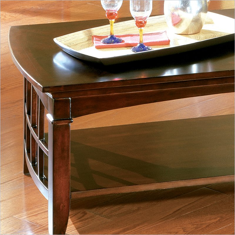 Standard Glasgow Rectangular Wood Cherry Finish Coffee Table