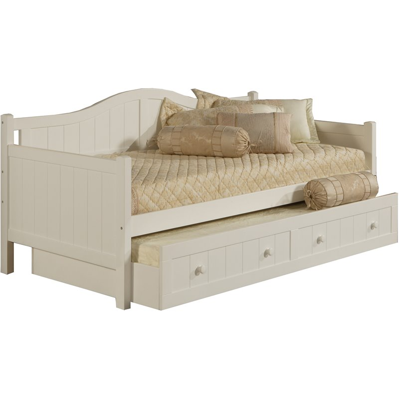 Hillsdale Staci Wood Daybed in White Finish With Trundle at Sears.com