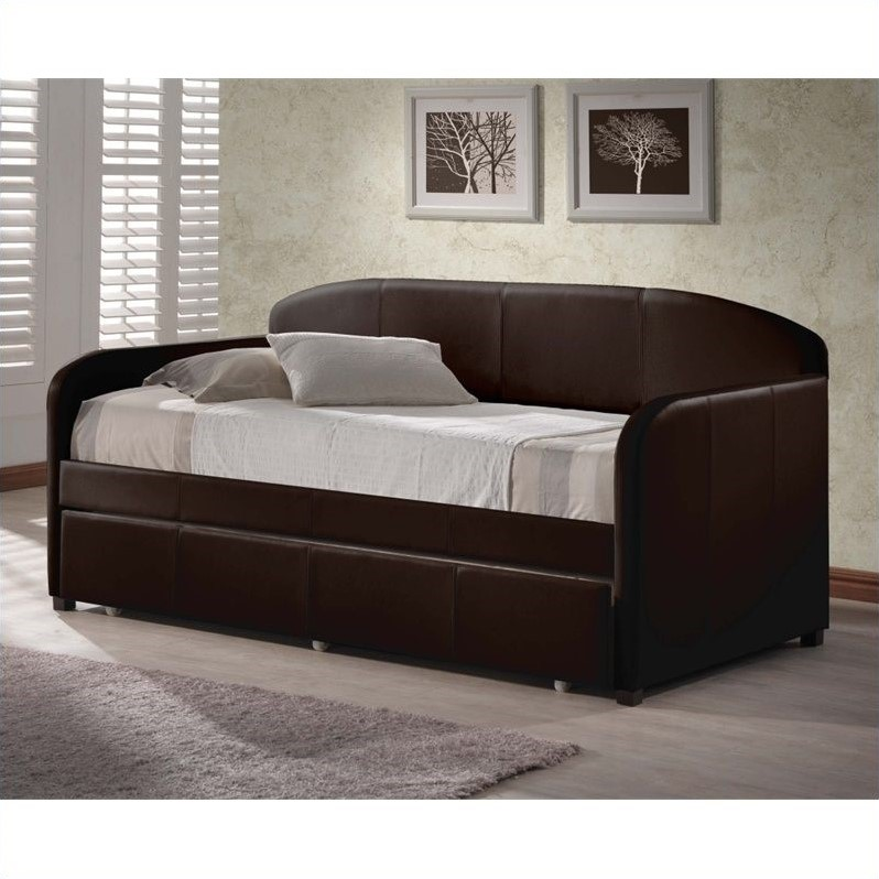 Hillsdale Springfield Daybed in Brown Faux Leather - Without Trundle at Sears.com