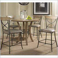 Hillsdale Charleston 5 Pc Counter Round Wood Pub Set w, X Back Stools at Sears.com