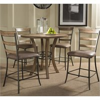 Hillsdale Charleston 5 Pc Counter Round Wood Pub Set w, Ladder Stools at Sears.com