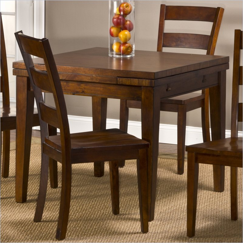 Hillsdale harrods creek square rectangular gathering w for Square drop leaf dining table