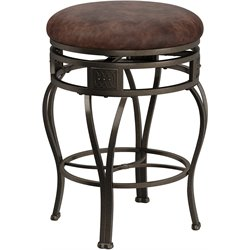 Hillsdale Montello 26 Inch Swivel Leather Counter Stool