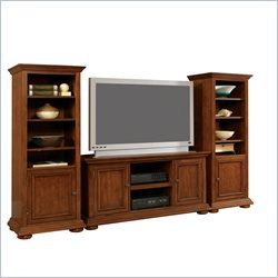 Home Styles Furniture Homestead Flat Panel/Plasma/LCD Wood Entertainment Center in Distressed Oak Finish