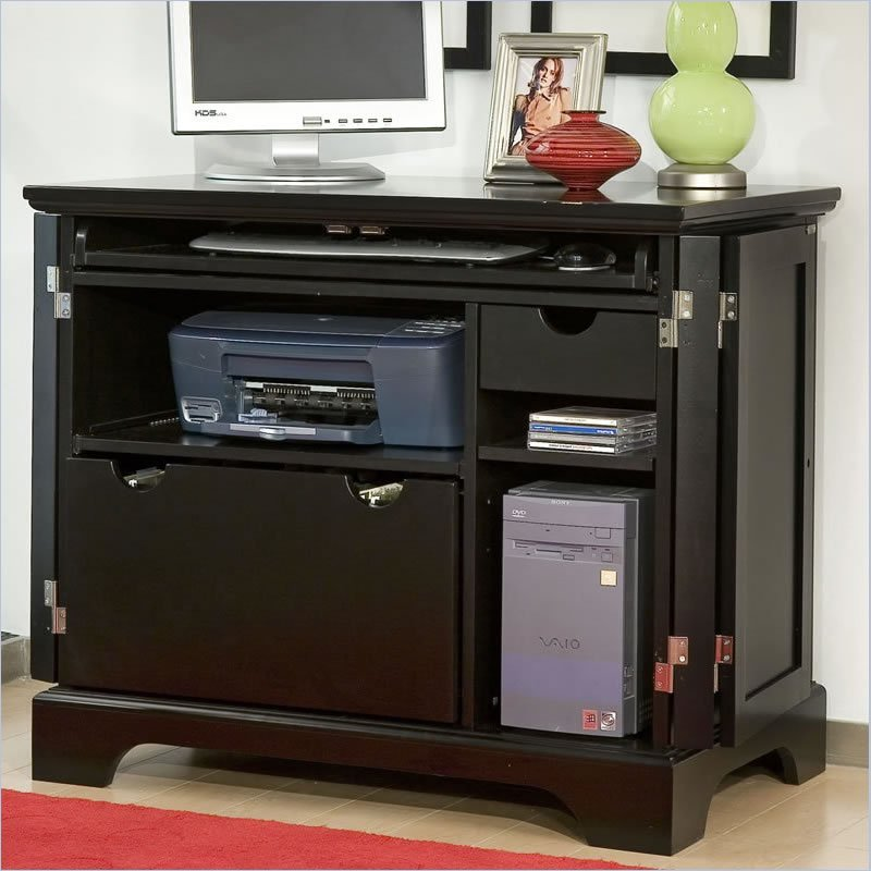 home styles bedford wood tv stand in ebony finish