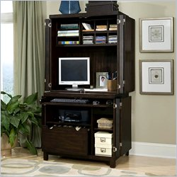 Home Styles Furniture City Chic Cabinet &amp; Hutch in Espresso