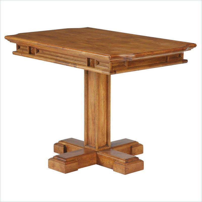 Home Styles Rectangular Nook Distressed Oak Finish Dining