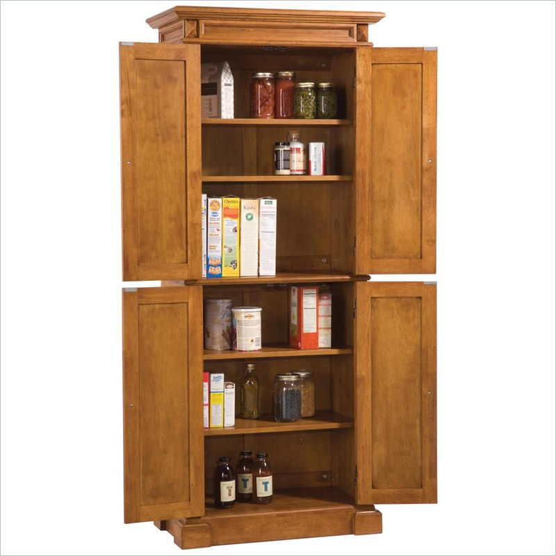 Distressed Kitchen Cabinets: Home Styles Kitchen Distressed Oak Finish Pantry