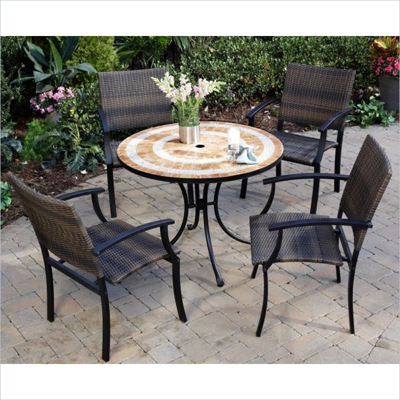 Home Styles Terra Cotta Bistro Table and 2 Newport Chairs in Terra Cotta at Sears.com