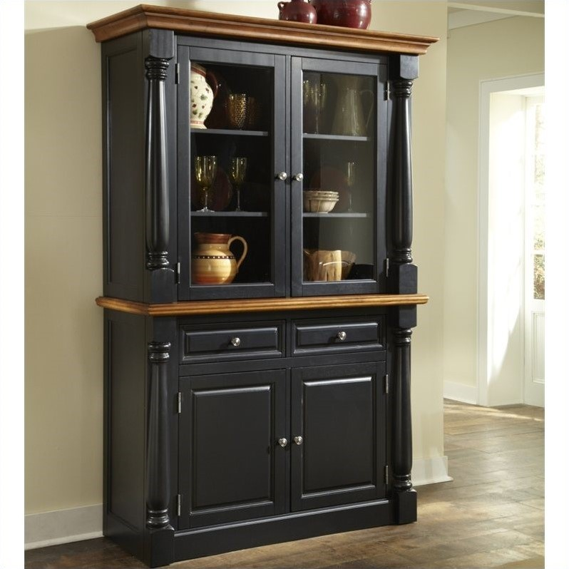 Home Styles Monarch Buffet and Hutch in Black and Oak Finsh at Sears.com