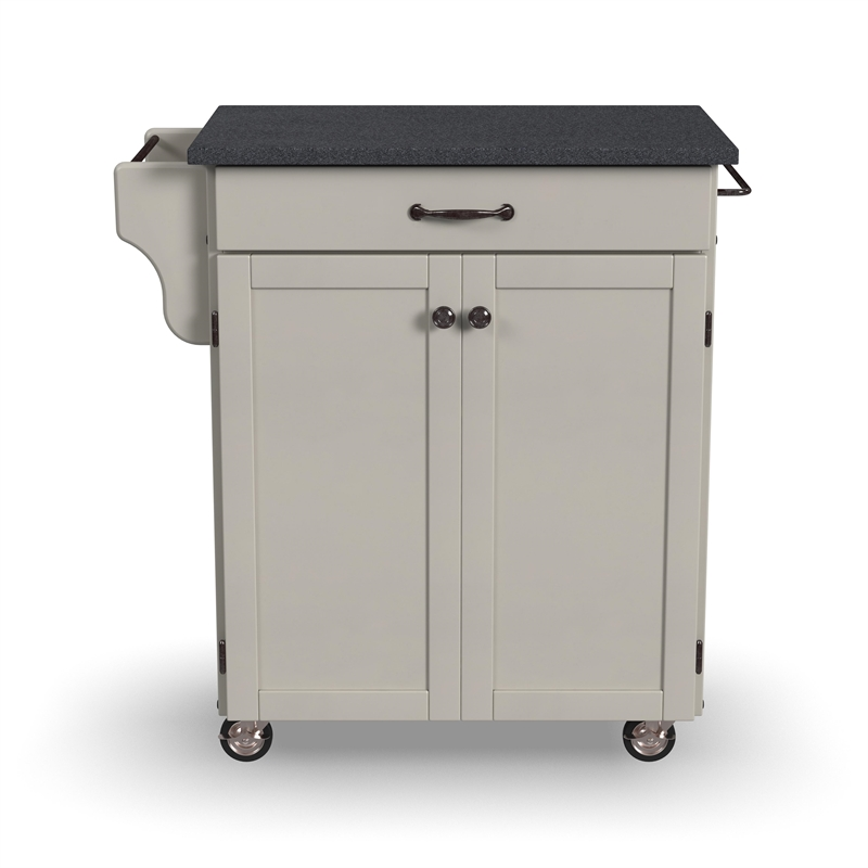 Home Styles Furniture White Wood Kitchen Cart with Granite Top at Sears.com