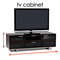 how to measure a tv cabinet