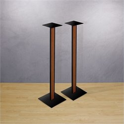 Bello 30 Inch Speaker Stands with Cherry Wood Inlay