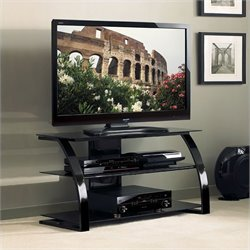 Bello High Gloss Flat Panel TV Stand in Black