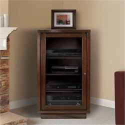 Bello Audio Video Component Cabinet in Dark Espresso