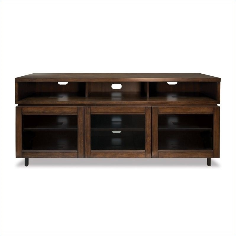 Wood Home Entertainment Cabinet In Cocoa Finish Pr45