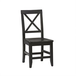 Linon Anna Wood Dining Side Chair in Distressed Antique Black