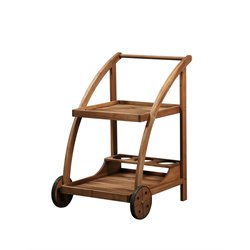 Linon Catalan Serving Trolley in Teak