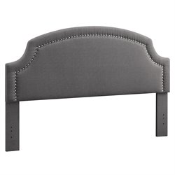 Linon Regency King Upholstered Headboard