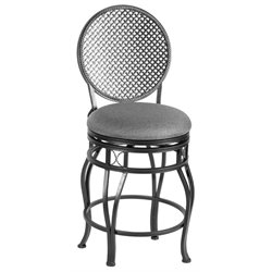 Marta Bar Stool in Light Gray and Black