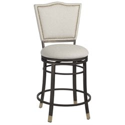 Mariana Bar Stool in Beige and Dark Champagne