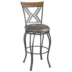 Madelyn Bar Stool in Brown and Nickel