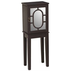 Linon Kaila Jewelry Armoire in Black