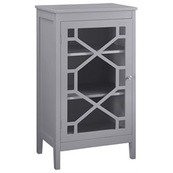 Fetti Curio Cabinet in Gray