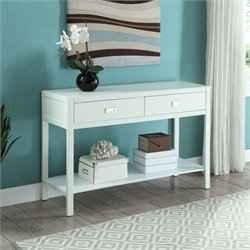 Linon Peggy Console Table in White