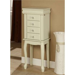 Linon Elizabeth Jewelry Armoire in White