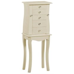 Linon Bailey Jewelry Armoire in Cream