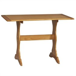Linon Chelsea Kitchen Dining Nook Dining Table in Honey Pine
