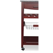 Linon Wood and Granite Top Kitchen Cart in Wenge Brown