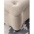 Linon Vicki Curved Wood Upholstered Storage Ottoman in Beige