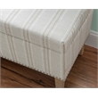 Linon Stephanie Stripe Wood Upholstered Storage Ottoman in Gray