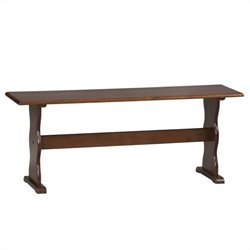 Linon Chelsea Kitchen Dining Nook Bench in Walnut