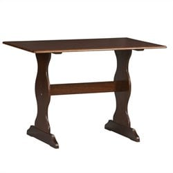 Linon Chelsea Kitchen Dining Nook Dining Table in Walnut