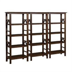 Wall Bookcase in Antique Tobacco