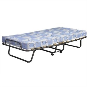 Linon Roma Folding Bed in Blue and White