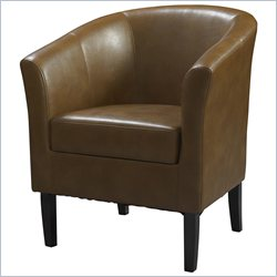 Linon Simon Russet Club Chair in Dark Walnut