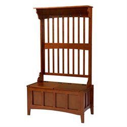 Linon Hall Tree with Storage Bench in Walnut
