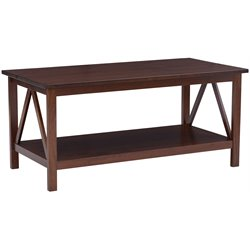 Linon Titian Coffee Table in Antique Tobacco