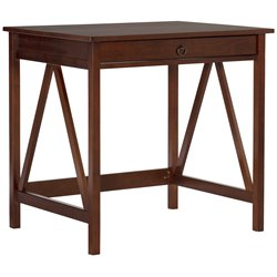 Linon Titian Laptop Desk in Antique Tobacco