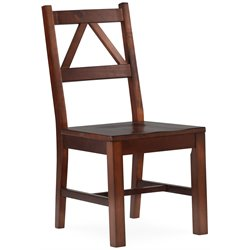 Linon Titian Chair in Antique Tobacco