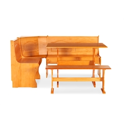 Breakfast Corner Nook Table Set in Natural