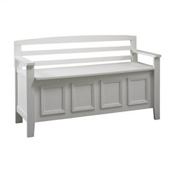 Linon Laredo Storage Bench in White