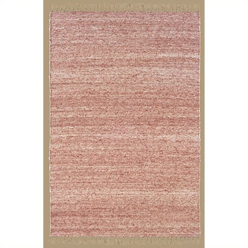 Rugs Berber Rectangular Area Rug in Red and Natural