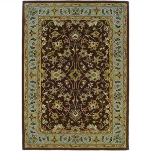 Rugs Rectangular Area Rug in Brown/Light Blue