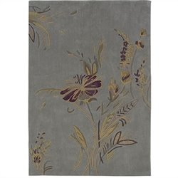 Linon Trio Rectangular Rug in Plate Blue and Gold - 22